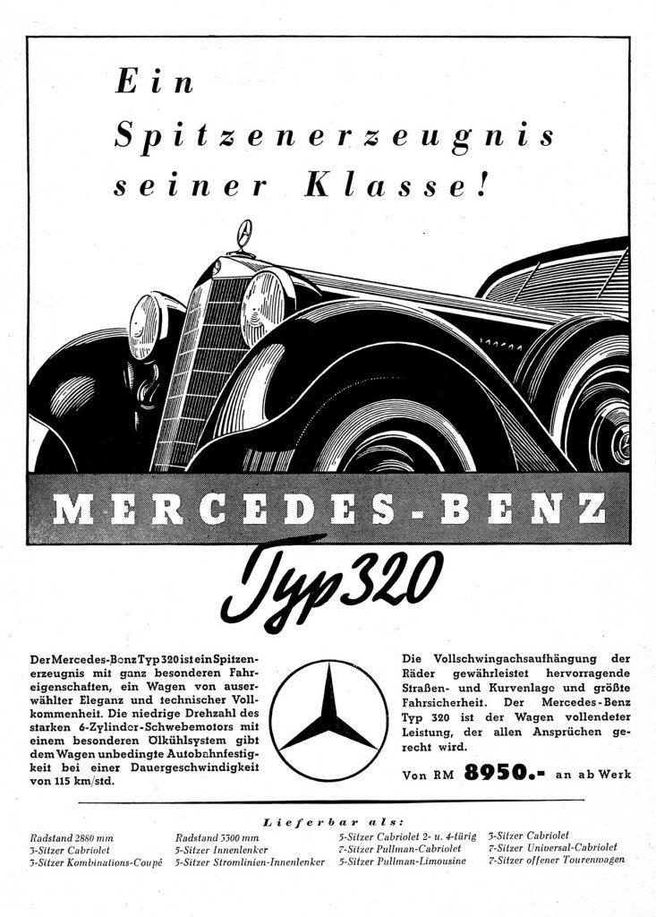 Mercedes-Benz 320 Affiche Pub