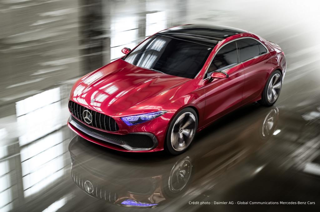 Mercedes Concept A Sedan vue de haut